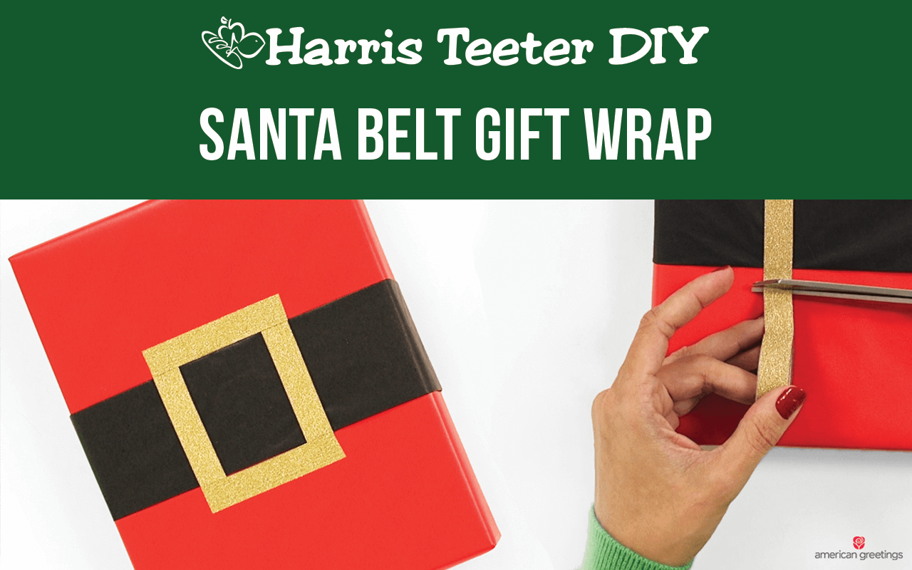 DIY Santa Belt Gift Wrap