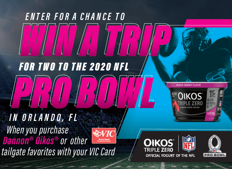 2020 PRO BOWL OIKOS SWEEPSTAKES AT HARRIS TEETER