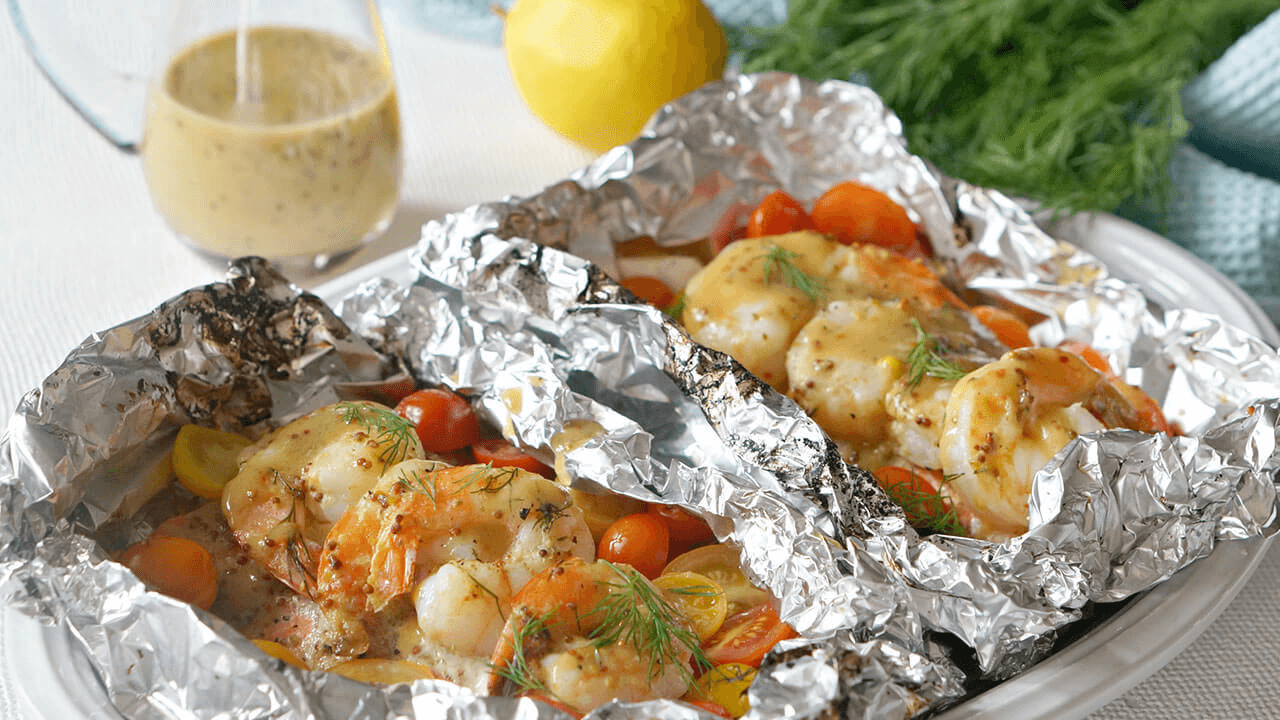 Shrimp and Salmon Foil Packs