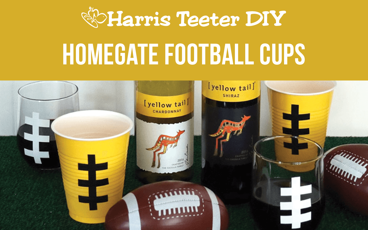 Yellow Tail Home Gate Football Cups