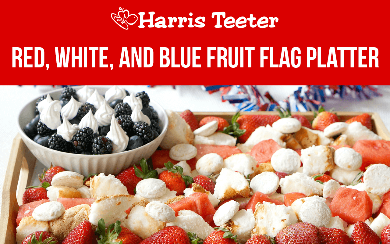 Red, White, and Blue Fruit Flag Platter