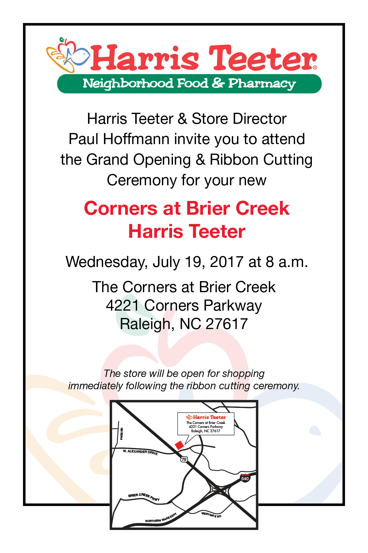 Grand Opening of Harris Teeter Store in Raleigh, N.C. - Harris Teeter