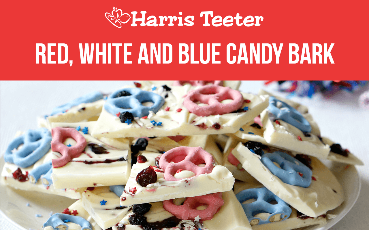 Red, White and Blue Candy Bark