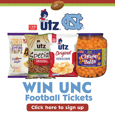 2019 UTZ -UNC FOOTBALL TICKET GIVEAWAY