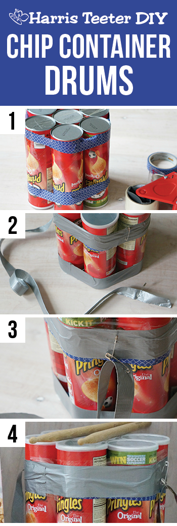 DIY CHIP CONTAINER DRUMS