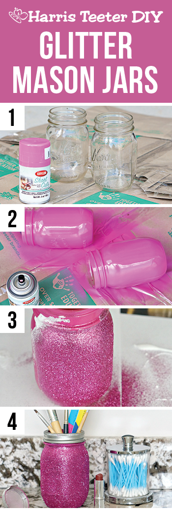 How to paint mason jars with spray paint